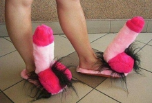 This funny slippers are gift for my sweet girlfriend :)