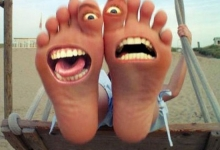 Happy fuunny foots